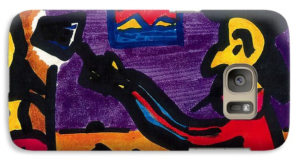 Galaxy Case featuring the drawing Mad Artist by Don Koester