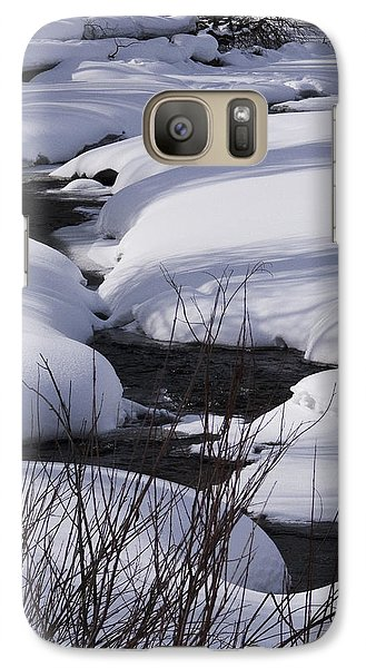 Galaxy Case featuring the photograph Mad Creek Winter At Elk Confluence by Daniel Hebard
