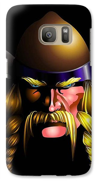 Galaxy Case featuring the digital art Mad Viking by P Dwain Morris