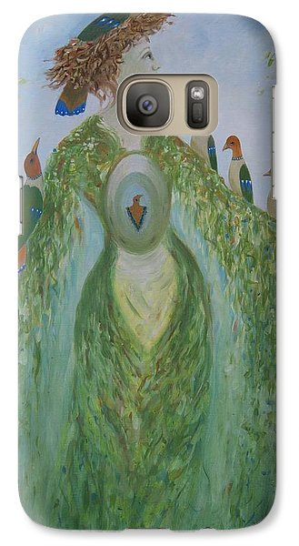 Galaxy Case featuring the painting Madame Atomne by Tone Aanderaa