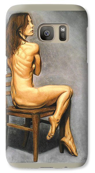 Galaxy Case featuring the pastel Madame Brooke by Joseph Ogle
