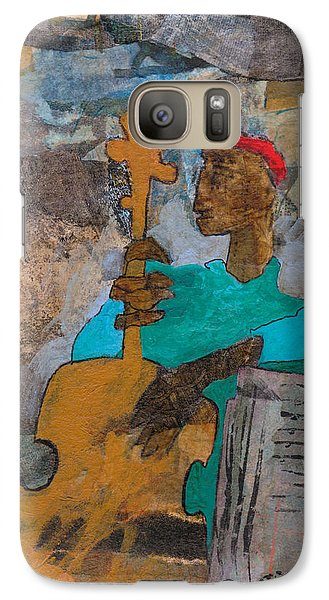 Galaxy Case featuring the mixed media Madcap Bass by Catherine Redmayne