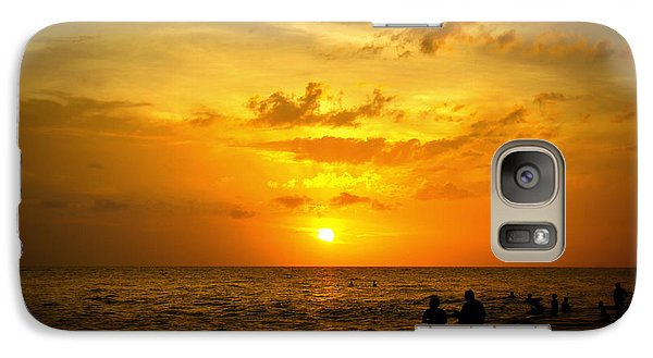 Galaxy Case featuring the photograph Madeira Sunset by Laurie Perry