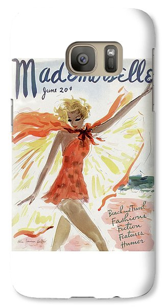 Mademoiselle Cover Featuring A Model At The Beach Galaxy S7 Case