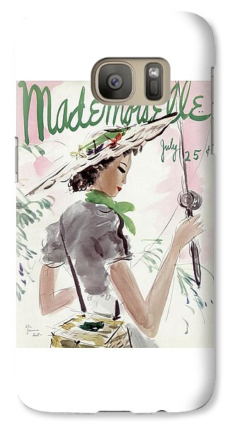 Mademoiselle Cover Featuring A Woman Holding Galaxy S7 Case