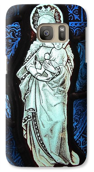 Galaxy Case featuring the glass art Madonna And Child by Gilroy Stained Glass