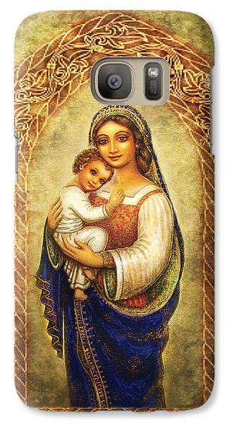 Galaxy Case featuring the mixed media Madonna In An Arch by Ananda Vdovic