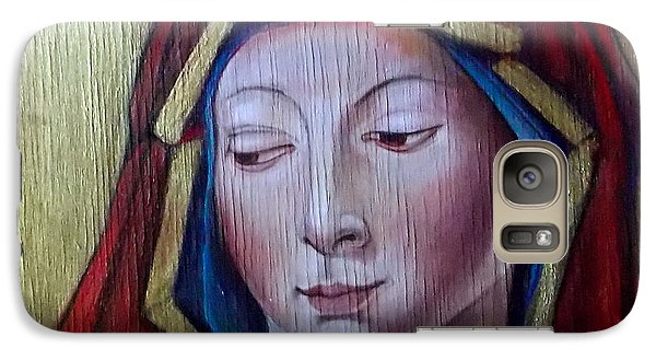 Galaxy Case featuring the painting Madonna Of Peace by Irena Mohr