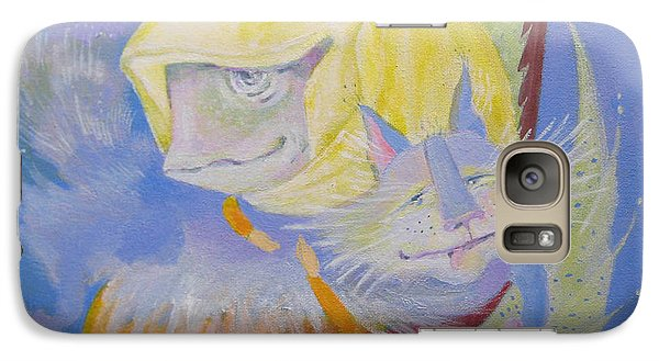 Galaxy Case featuring the painting Madonna With A Cat by Marina Gnetetsky