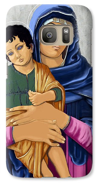 Galaxy Case featuring the painting Madonna With Child Blessing by Karon Melillo DeVega