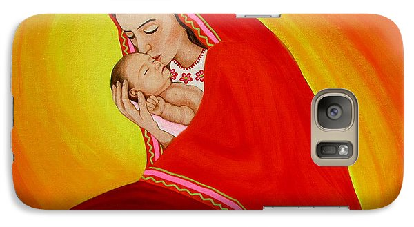 Galaxy Case featuring the painting Madrecita by Evangelina Portillo