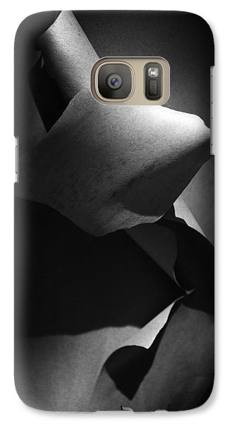 Galaxy Case featuring the photograph Madrona Bark Black And White by Yulia Kazansky
