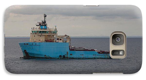 Galaxy Case featuring the photograph Maersk Transporter by Gregory Daley  PPSA