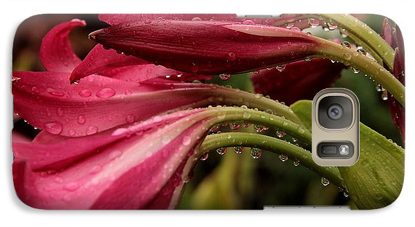Galaxy Case featuring the photograph Magenta Rain by Greg Allore