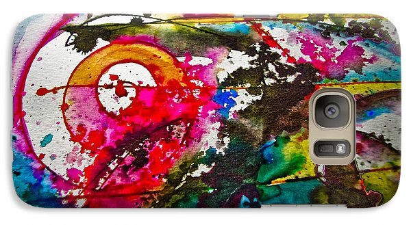 Galaxy Case featuring the painting Magenta Spiral by Adria Trail