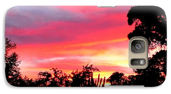 Galaxy Case featuring the photograph Magenta Sunset by DigiArt Diaries by Vicky B Fuller