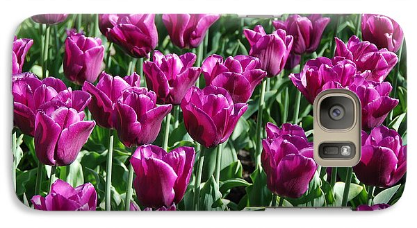 Galaxy Case featuring the photograph Magenta Tulips by Allen Beatty