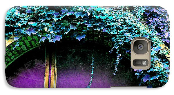 Galaxy Case featuring the photograph Magenta Window by Ginny Gaura