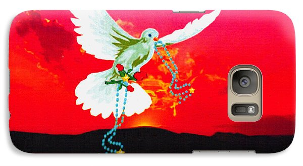 Galaxy Case featuring the digital art Magestic Sun by Mary Anne Ritchie