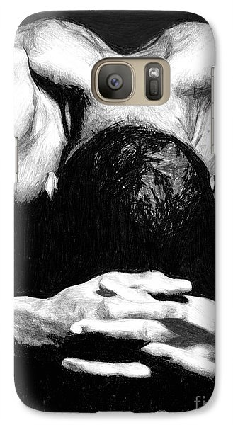Galaxy Case featuring the drawing Maggette by Tamir Barkan