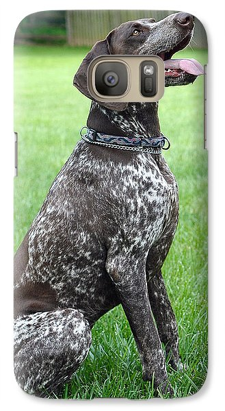 Galaxy Case featuring the photograph Maggie by Lisa Phillips