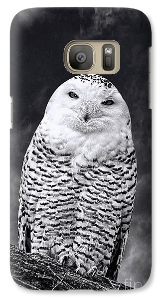 Galaxy Case featuring the photograph Magic Beauty - Snowy Owl by Adam Olsen