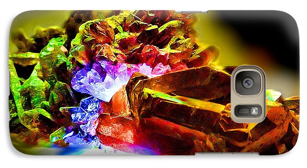 Galaxy Case featuring the painting Magic Crystal Stone by Daniel Janda