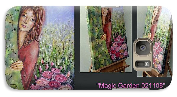 Galaxy Case featuring the painting Magic Garden 021108 Comp by Selena Boron