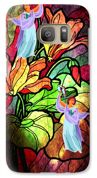 Galaxy Case featuring the digital art Magic Garden by Mary Anne Ritchie
