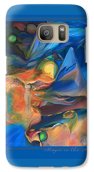 Galaxy Case featuring the painting Magic In The Air - With Border And Title by Brooks Garten Hauschild
