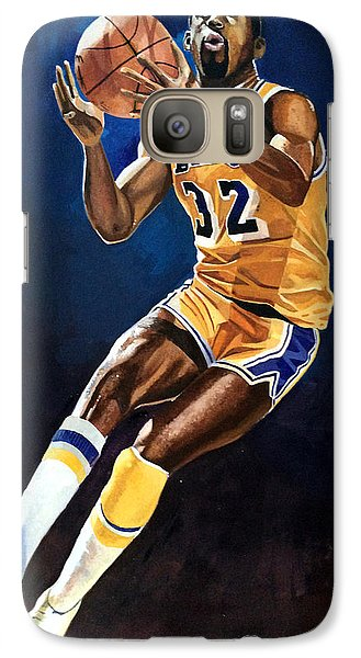 Magic Johnson - Lakers Galaxy S7 Case by Michael  Pattison