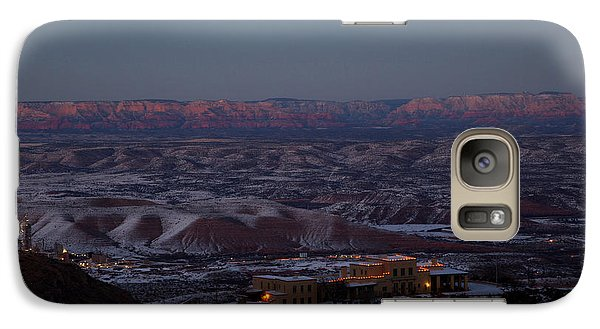 Galaxy Case featuring the photograph Magic Light Red Rocks With Snow by Ron Chilston