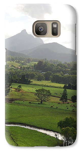 Galaxy Case featuring the photograph Magic Mountain by Ankya Klay