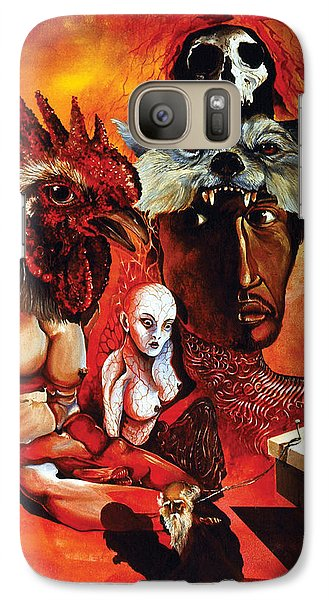 Galaxy Case featuring the painting Magic Poultry by Otto Rapp