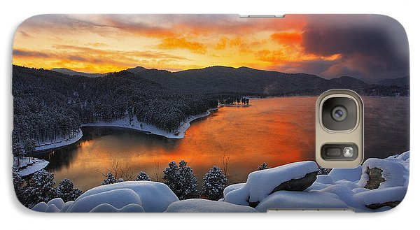Galaxy Case featuring the photograph Magic Sunset by Kadek Susanto