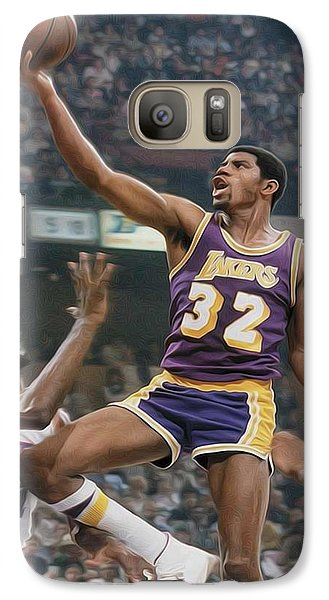 Magic Johnson Galaxy S7 Case - Magic Time by Paint Splat