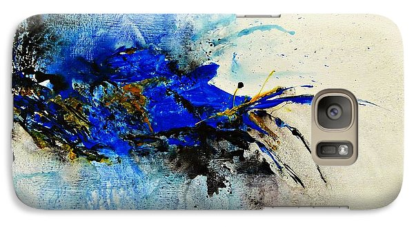 Galaxy Case featuring the painting Magical Blue-abstract Art by Ismeta Gruenwald