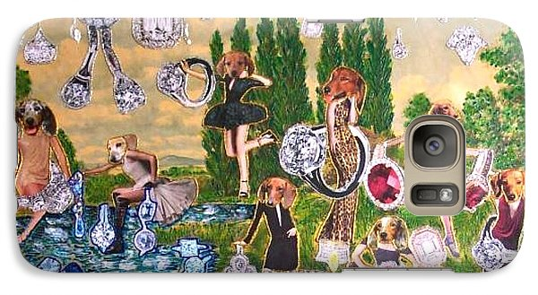 Galaxy Case featuring the painting Magical World by Lisa Piper