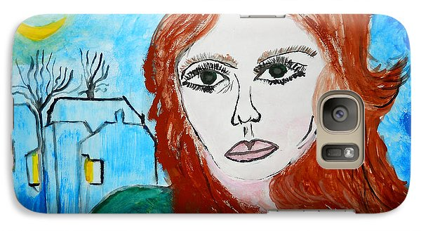 Galaxy Case featuring the painting Magnetic Eyes by Ramona Matei