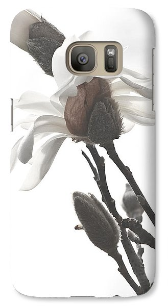 Galaxy Case featuring the photograph Magnolia Bloom by Tammy Schneider