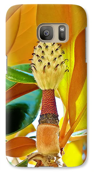 Galaxy Case featuring the photograph Magnolia Flower by Olga Hamilton