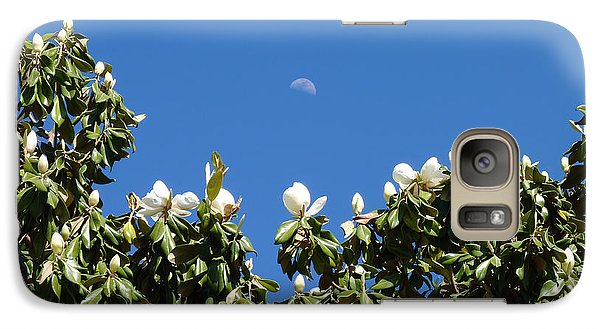 Galaxy Case featuring the photograph Magnolia Moon by Meghan at FireBonnet Art