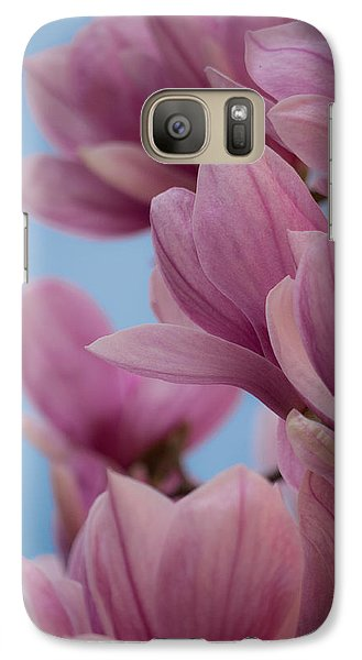 Galaxy Case featuring the photograph Magnolia On Blue Sky by Rob Amend