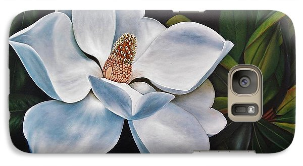 Galaxy Case featuring the painting Magnolia by Paula L