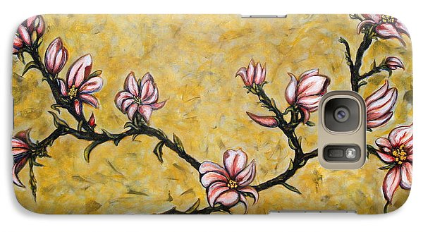 Galaxy Case featuring the painting Magnolia by Rae Chichilnitsky