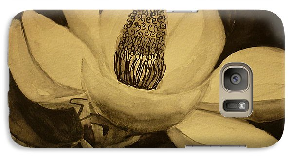 Galaxy Case featuring the painting Magnolia by Therese Alcorn