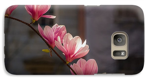 Galaxy Case featuring the photograph Magnolia's Descent by Rob Amend