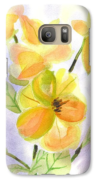 Galaxy Case featuring the painting Magnolias Gentle by Kip DeVore