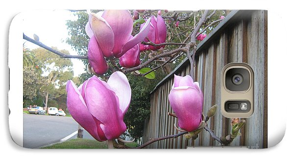 Galaxy Case featuring the photograph Magnolias In Bloom by Leanne Seymour