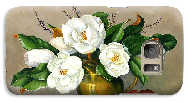 Galaxy Case featuring the painting Magnolias - Southern Beauties by Sandra Nardone